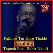 Pakhire Tui Dure Thakle Karaoke By Taposh ft. Subir Nandi - Wind Of Change (Scrolling Lyrics)