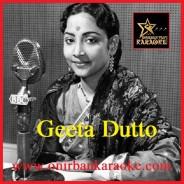 Jhanak Jhanak Kanak Kakon Baje Karaoke By Geeta Dutt (Mp4)